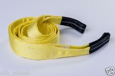 "3"" 9T Tow Strap 10 ft winch tree saver protector off-road snatch recovery"