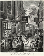 Hogarth Print Reproduction: 'Night' - The Four Times of the Day: Fine Art Print