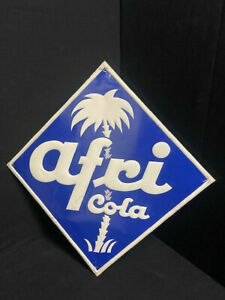 Afri Cola Targa di Latta Rombo - Goffrata Motivo - Del 1955 Scudo Palma Segno