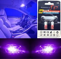 LED 5050 Light Purple 12000K 168 Two Bulb License Plate Replacement Rear SMD JDM