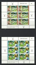 NEW ZEALAND 1971 HEALTH, HOCKEY PAIR OF MINIATURE SHEETS UNMOUNTED MINT, MNH