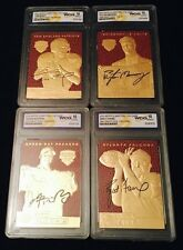 AARON RODGERS/TOM BRADY/PEYTON MANNING/BRETT FAVRE AUTOGRAPHED 23KT GOLD LOT!