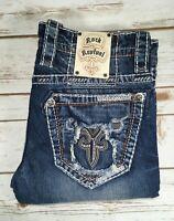 Mens Rock Revival Jeans Buckle Low Rise Vietia Alt Slim Straight Leg Szs 29 - 44