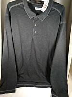 Tommy Bahama Big & Tall Palmetto Paradise Polo Shirt Black 3XB