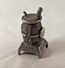 New listing Christmas 1988 Paperweight Pot Belly Stove Post Precision Strausstown Pa 19559