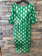 NWT Tracy Reese Combo T Dress - Size 12 - Green - Black - Ivory Print - Wiggle