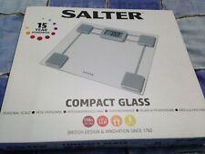 BNIB Salter 9081 SV3R Compact Glass Digital Bathroom Scale