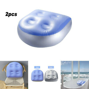 2Pcs Home Spa Booster Seat Spa Cushion Inflatable Hot Tub Accessories Adult Kids