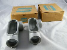 """LOT OF 4 ~  NEW ~ CROUSE-HINDS ~ 1 1/4"""" CONDUIT OUTLET BODY ~  PART # LL 47"""