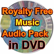 Royalty Free Music Audio Pack Background Presentation Video Sound Tracks in DVD