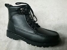 POLO RALPH LAUREN - MELVIN - Youth Boys Boots - Black Leather - Size 6.5