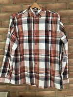 EDDIE BAUER Men's Size Large Long Sleeve Button Plaid Shirt Vented-Classic Fit