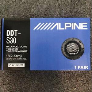 "Alpine DDT-S30 360W 2.5CM 1"" Soft Dome Balanced Car Audio Speakers Tweeters NEW"