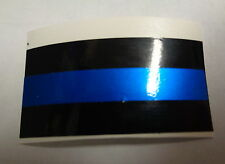 POLICE/SHERIFF BLUE LINE STICKERS, REFLECTIVE, FOR LICENSE PLATES, AMERICAN MADE