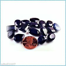 (L_005) ... 126.50 ct. Tall 10 ml Bottle 'O Faceted Sapphires! Stones to 12mm!