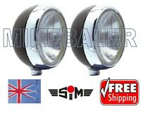 "NEW SIM STAINLESS STEEL CHROME 7"" CIBIE OSCAR H3 SPOT/DRIVING/FOG LAMPS/LIGHTS"