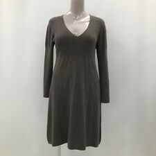 The White Company Dress Womens Size UK XL Grey 100% Merino Wool Casual 281881
