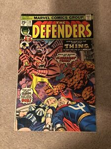 Marvel DEFENDERS #20 (1975) The Thing Appearance Bondage Cover