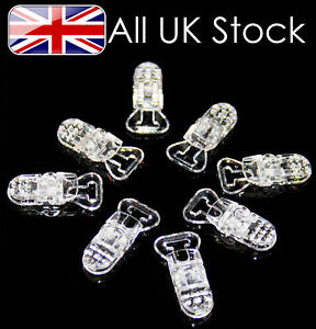 Plastic Dummy Clips Clear Packs of 1, 5,10,20,25,50,100,200,300,400,500 & 1000