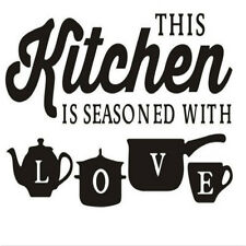 Fashion Wall Stickers 'Kitchen Love' Creative Quote Wall Art Stickers Decals LH