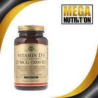 Solgar Vitamin D3 (Cholecalciferol) 1000 IU 250 Softgels | Healthy Bones & Teeth