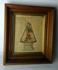 Antique Russian Icon Risa Mother of God Luxemburgensis 19 c layered shadow frame