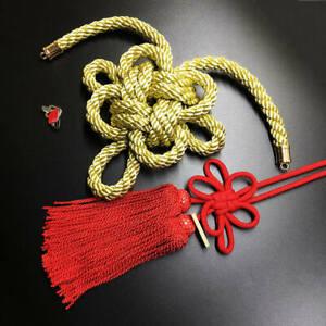 1Set JDM New Modle Junction Produce Gold Kintsuna Red Fusa Kiku Knot Ornaments