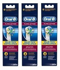 12 Braun Oral-B Floss Action Electric Toothbrush Heads [EB25-4]