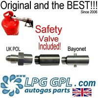 Refill autogas propane bottles with safety valve