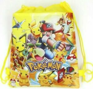 POKEMON DRAWSTRING BAG LIBRARY SCHOOL SWIMMING KINDER BOOK BIRTHDAY LOLLY LOOT