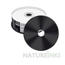 25 Mediarange Black Bottom CD-R CDR blank disc White Printable 52x 700MB MR241