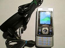 Sony Ericsson T 303 silber Schiebe Simfrei Lader Ohrstöpsel  gebraucht Nr. 168 X