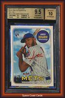 2018 Topps Heritage Real One Amed Rosario Red Ink RC Auto 21/69 BGS 9.5