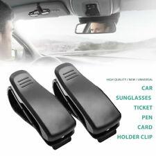 Auto KFZ PKW Sonnenblende Brillenhalterung Brillenclip Kartenhalterung Silber