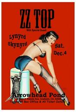ZZ Top with Lynyrd Skynyrd * Betty Page * at Anaheim  Concert Poster 1999