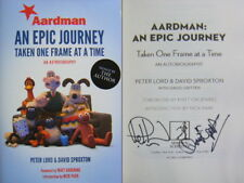Dual Signed Book Aardman An Epic Journey by David Sproxton, Peter Lord Hbk 1st E
