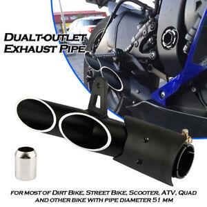 51mm Double Aluminium Motorcycle Exhaust Slip - on Silencer MUFFLER TUNING UNIVERSAL