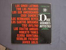 "LP 12"" 33 rpm 19?? DOCE GRANDES ARTISTAS - LATIN AMERICA'S MOST POPULAR ARTISTS"
