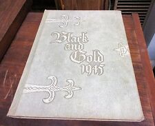 1945 Black and Gold Winston-Salem High Schools North Carolina Yearbook 3 Schools