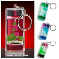 LIQUID MOTION SPIRAL TIMER KEYCHAIN Key Ring ADHD Stress Relief Kids 1 supplied