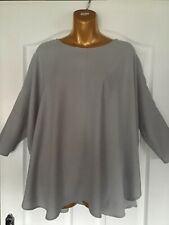 Cos Light Grey Oversized Blouse/Top Beautiful Quality Size EUR 36
