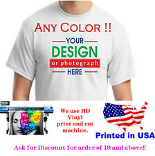 Personalized Custom printed  t-shirt  any color print text photo logo