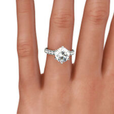 NATURAL ROUND SHAPE DIAMOND RING 14 KT WHITE GOLD VVS1 D 1.8 CARATS AWESOME