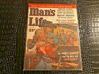 MAY 1960 MANS LIFE mens adventure magazine FANTASTIC COVER - TRAIN BANDIT