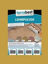 Terrabest Lehmpulver - gelb 2,5kg zum mischen von Terrariensand Naturlehm