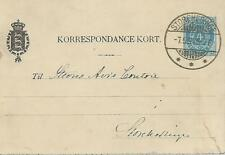 DENMARK 1894 4ore USED LETTER CARD   MY REF 717