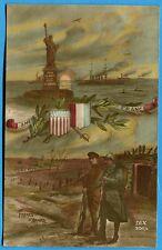 CPA Patriotique: Frères d'armes - U.S. America - France / Guerre 14-18