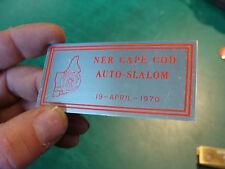 Unused Dash Plaque: NER CAPE COD AUTO SLALOM april 19, 1970