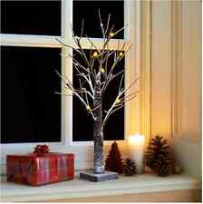 New 2ft Snowy Twig Christmas Tree 24 LED for Decoration