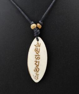 Anhänger Halskette Om Mani Padme Aum Buddhismus A25